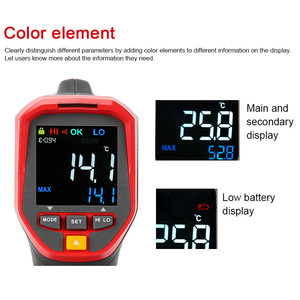 Image 4 - UNI T UT301A+ Non Contact Laser LCD Display IR Infrared Digital C/F Selection Surface Temperature Thermometer Pyrometer Imager