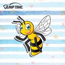 Jump time 13cm x 12.4cm abelha adesivos de carro decalque criativo modificado adesivos estilo do carro à prova dwaterproof água adesivos engraçados decoração