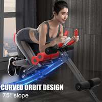 Sit Up Benches Foldable Multifunction Fitness Machine Adjustable Abdominal Benches Muscles Training Home Gym Exerciser Equipment
