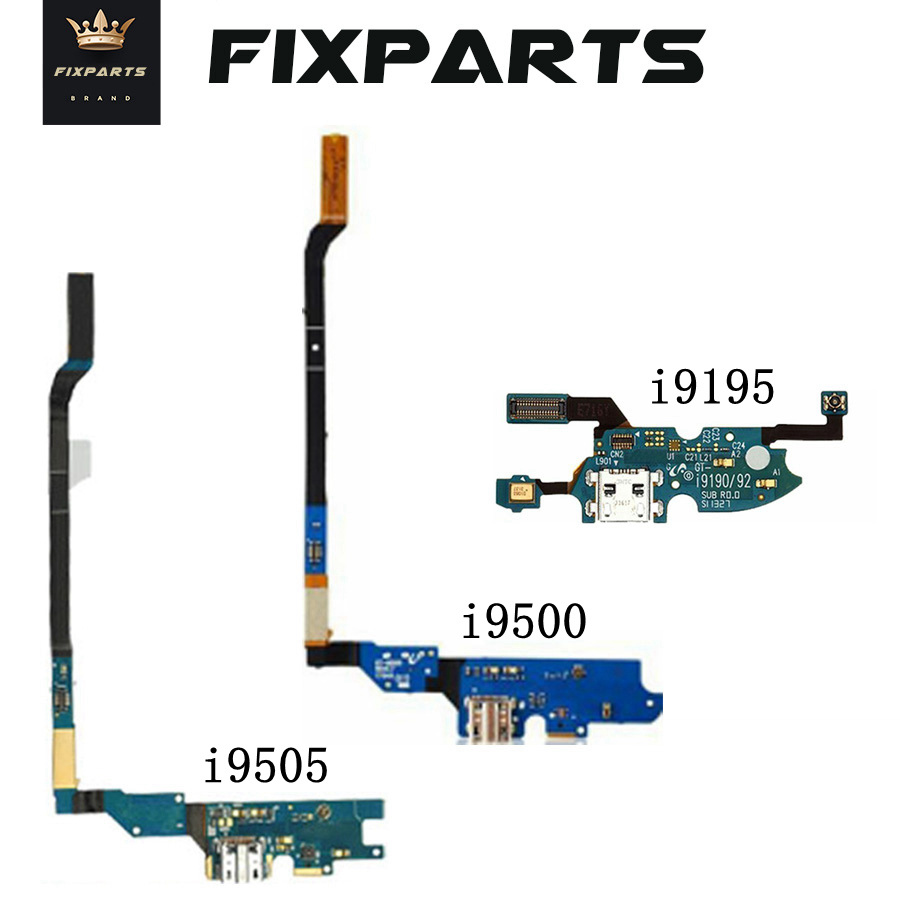 New Micro USB Charger Flex Cable For SAMSUNG Galaxy S4 Mini I9190 I9195 USB Charging Port With Mic For Samsung S4 I9500 I9505