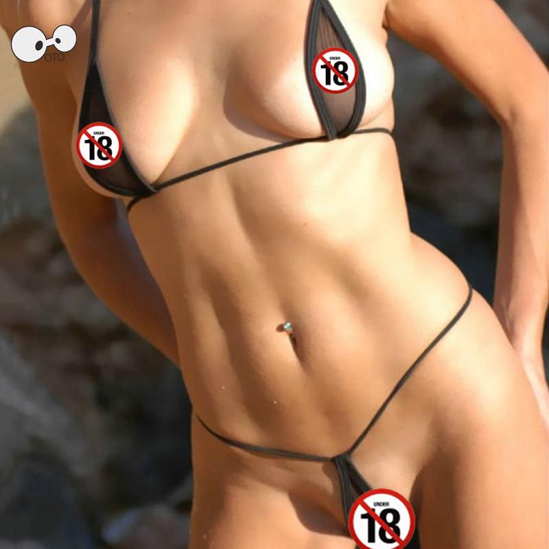 transparent latex bikini