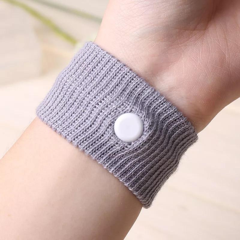 1Pc Adjustable Travel Reusable CottonWrist Band Anti Nausea Wristbands Sickness Car Ship Plane Sick Care
