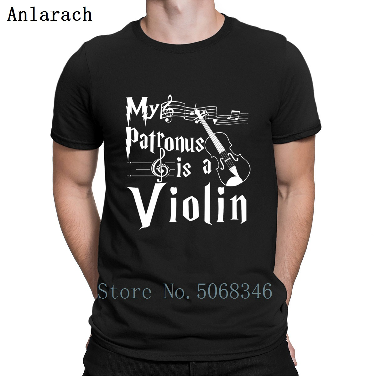 My Patronus Is A Violin T Shirt Basic Summer S-XXXL Cotton Personalized Pictures Letter Graphic Shirt