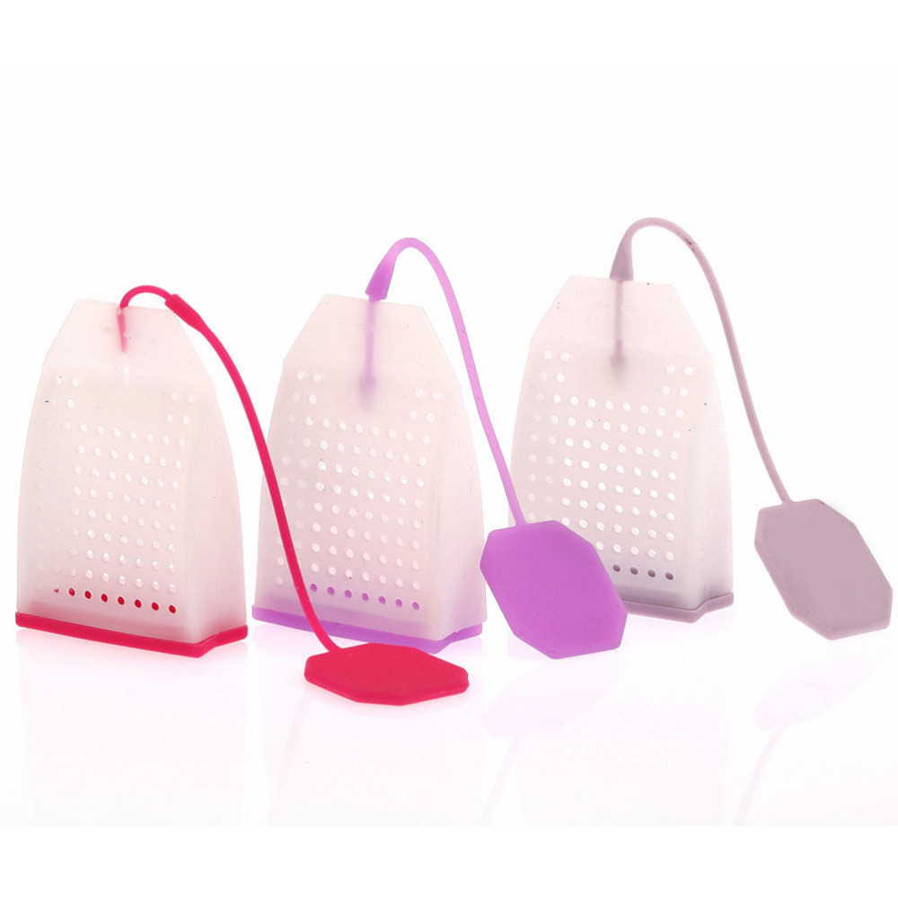 1Pcs New Silicone Tea Strainer Bag Style Herbal Spice Infuser Filter Diffuser Kitchen Coffee Tea Tools Wholesale Random Color