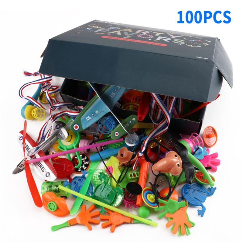 100 PCS Assorted Gift Toys Goodie Bags Carnival Prizes Festive Party Supplies Pinata Fillers Kids Toy Gadget Giveaways U50F image