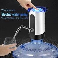 Bomba dispensadora de agua eléctrica automática con carga USB, interruptor automático de un clic, 2021