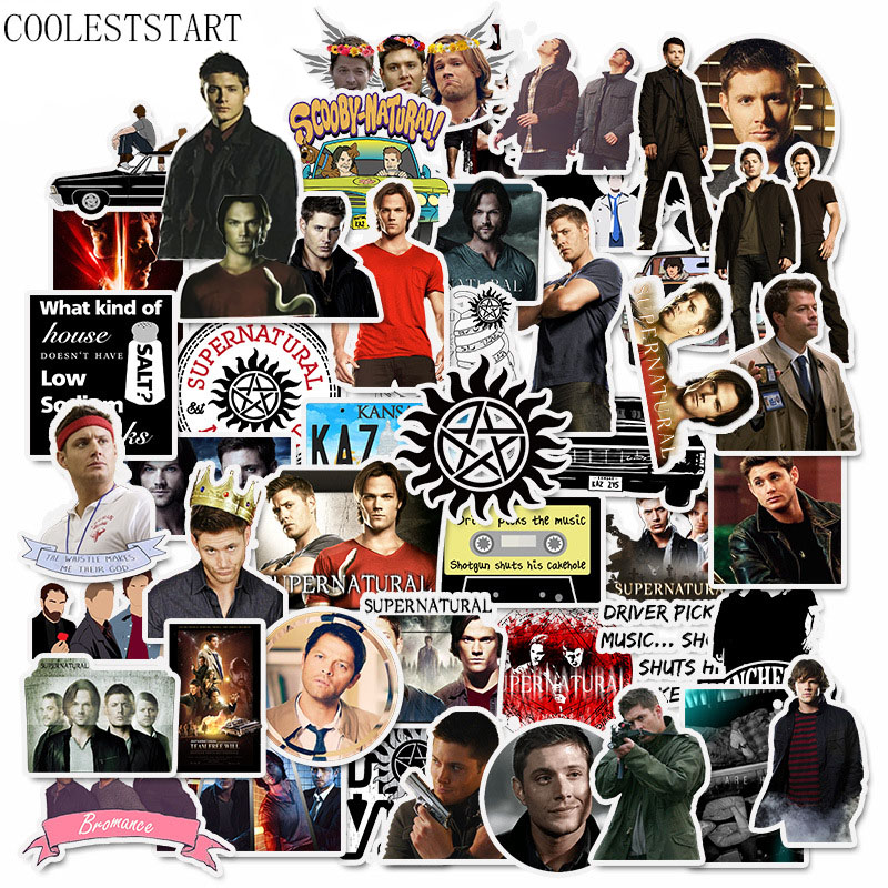 50 Pcs/set Hot TV Series Supernatural Stickers For Skateboard Motorcycle Laptop Luggage Waterproof Guitar Naklejki Car Stickers