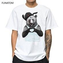 Bear Casual Mens O-neck T Shirts Fashion Men's Tops Men T-shirt Short Sleeve Men Tshirt