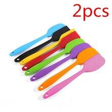 Brush Scraper Kitchenware Baking-Tool Mixing Silicone Batter 2pcs