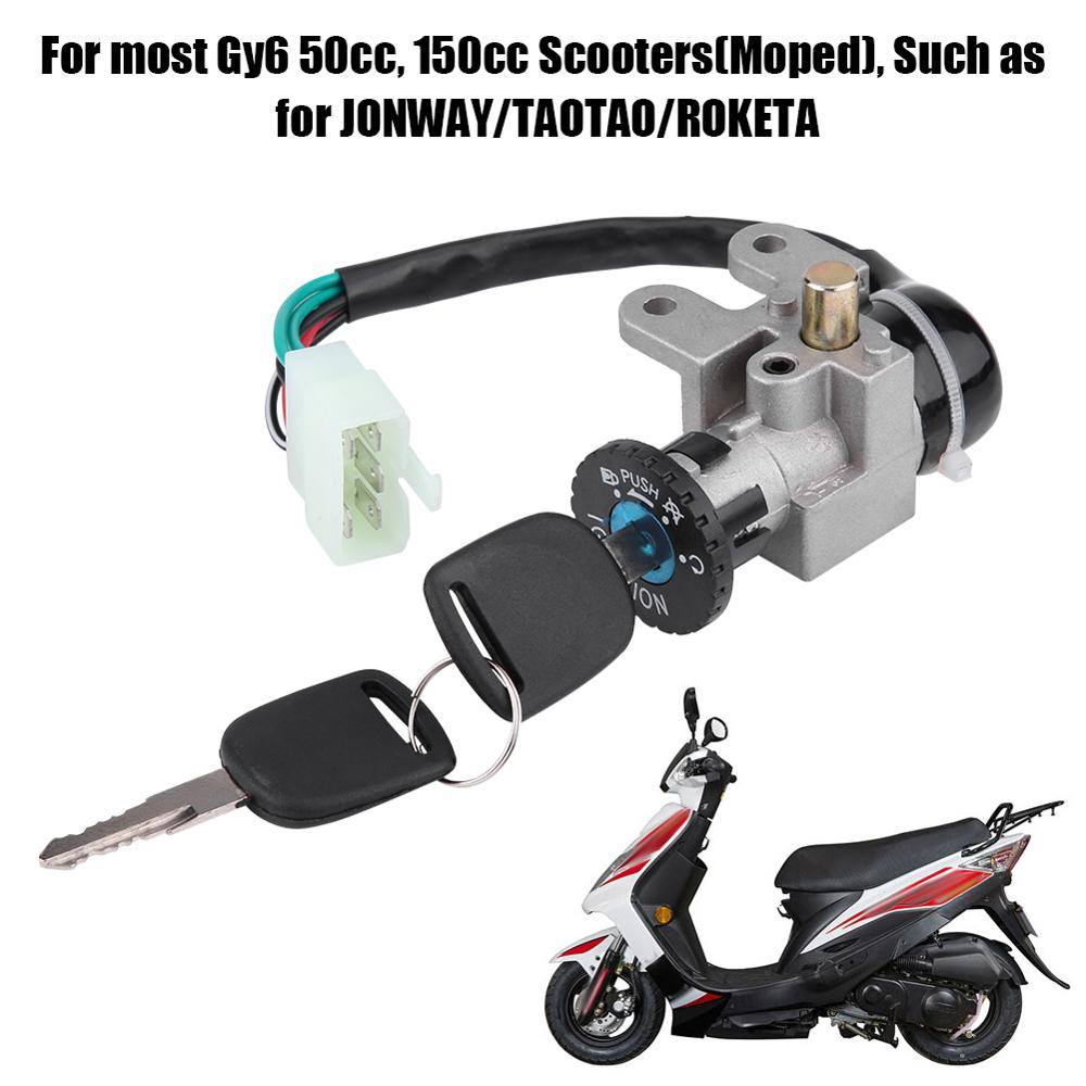 Ignition Switch Keys Fuel Tank Caps Lock Key For GY6 139QMB 50 125 150cc Scooter