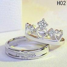 Nuevo encanto de anillo para amantes, nuevo estilo, perfecto, elegante y elegante conjunto de par de anillos especiales Vintage