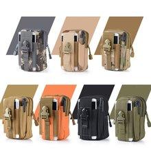 купить Outdoor Sports Molle Tactical Pocket Male Waterproof Mobile Phone Bag Wearing Belt Running Bag Wholesale онлайн