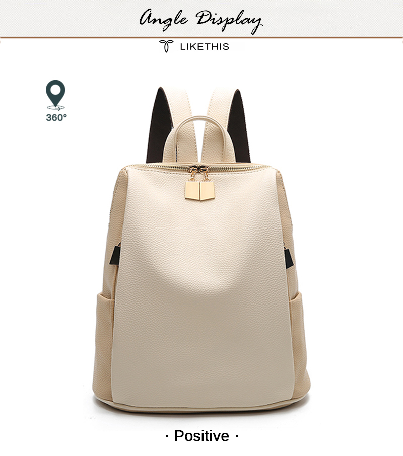 H66d2777efa144710b5530fc2a4e9479cK Women Backpack for School Style Leather Bag For College Simple Design Women Casual Daypacks mochila Female Famous Brands168-325