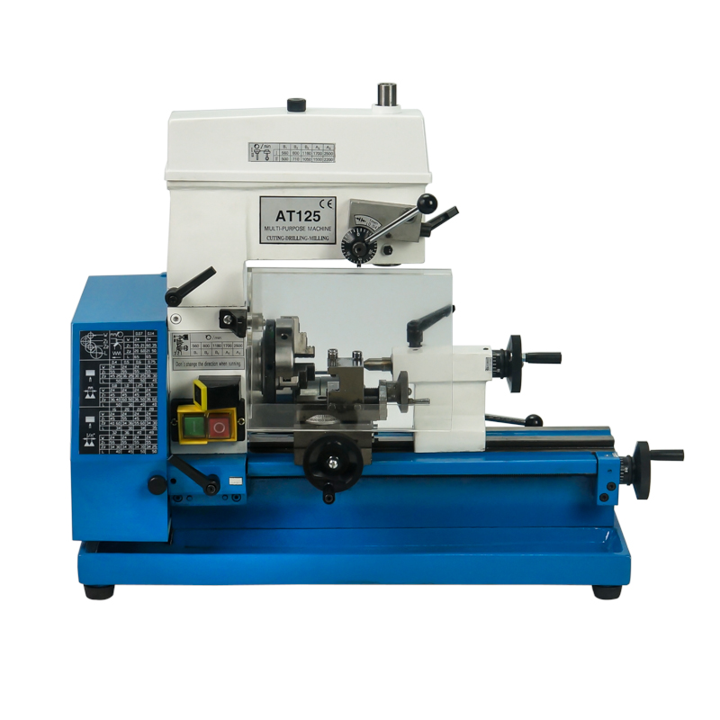 AT125 Milling Lathe Machine Household  Small Tool Bench Multifunction Bench Drilling Machine Tool