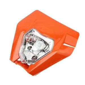 Image 4 - Motorcycle Universal Headlamp Lights Headlight For KTM EXC EXCF SXF XC XCW XCF XCFW 125 150 250 350 450 530 Dirt Bike Supermoto