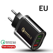 Quick Charge 3.0 USB Phone Charger UE/US For Samsung S8 S9 Xiaomi mi 8 Huawei Fast Wall Charging For iPhone 6 7 8 X XS Max iPad цены