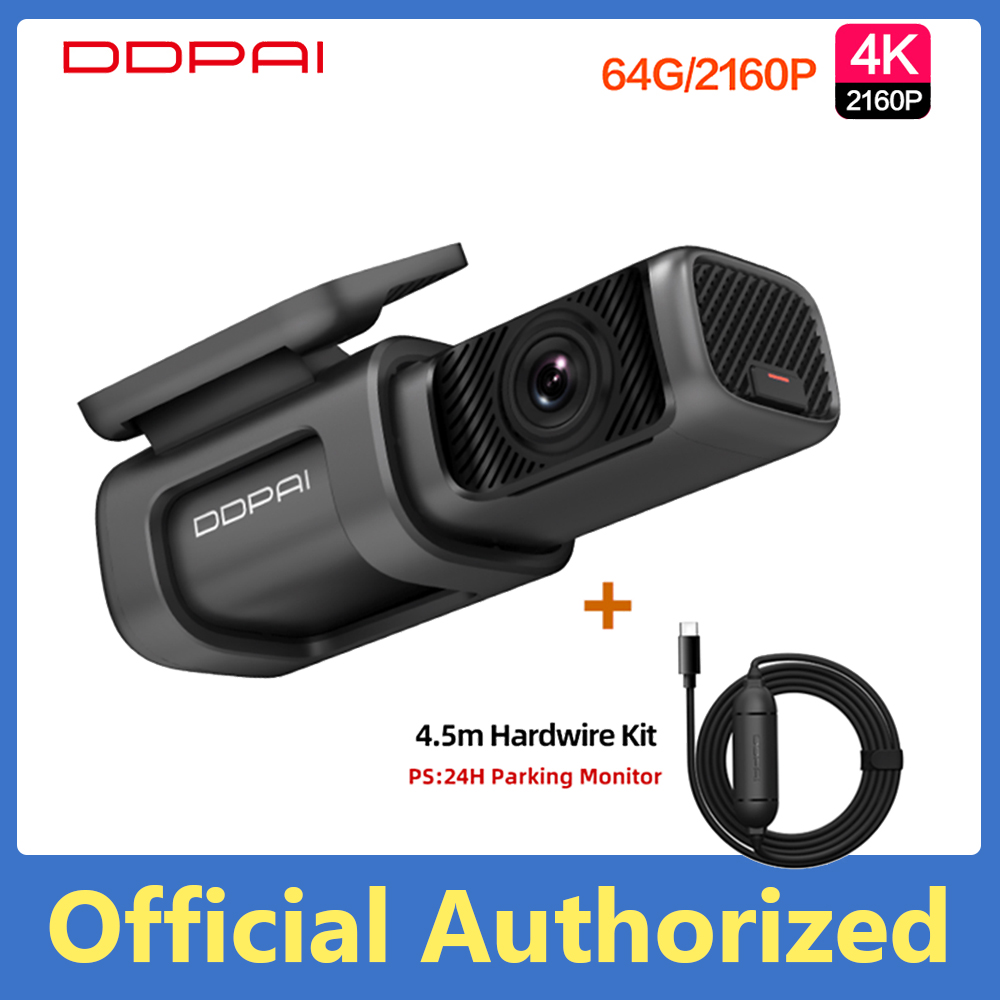 Global Version DDPai Mini5 Drive Recorder 4K High Definition Motion Detection 64G Large