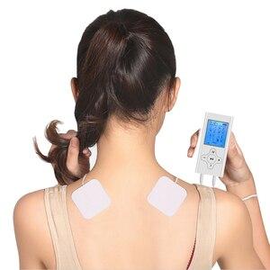 Image 2 - Recargable Mini Personal nervio de estimulación muscular EMS electrónicos Puls masajeador Digital TENS para terapia máquina de unidad de alivio del dolor