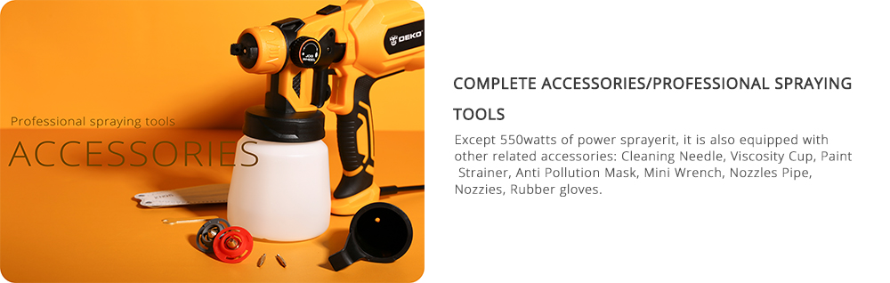 Accessories WithSprayGun