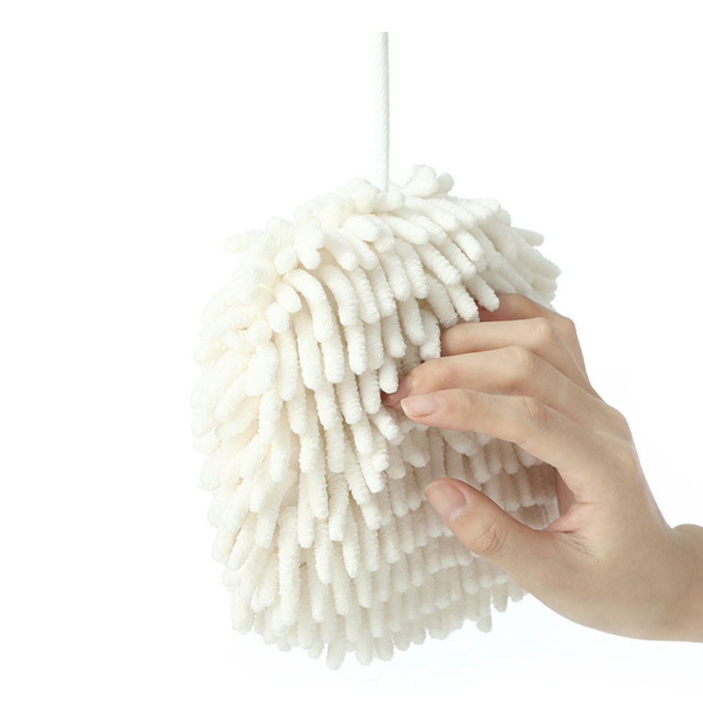 Plush Chenille Hanging Hand Dryer Balls Convenient Absorbent Hand Towels