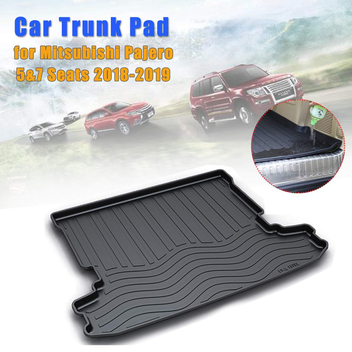 Rear Trunk Liner Boot Mat Cargo Tray Floor Carpet For Mitsubishi Pajero 2006-20116 2007 2008 2009 2010 2012 2013 2014 2015 2016