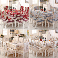 High grade Luxury Europe Lace Floral embroidery Lace Tablecloth Round Tablecloth For Wedding Table Cloth tea tablecloths AS