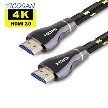 Ticosan HDMI 2.0 Cable 4K 60Hz 18Gbps  Pure copper for HDTV DVD/STB PS4  HD Ethernet cable 5M 10M 15M audio video cable