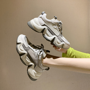 Image 3 - 2020 Platform Women Sneakers Fashion Ulzzang Woman Lace Up mesh Breathable Casual Shoes Female Chunky Vulcanized Shoes 6cm