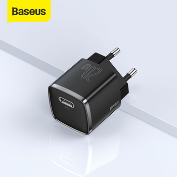 Baseus USB Type C Charger 20W Portable USB C Charger Support Type C PD Fast Charging For iPhone 12 Pro Max 11 Mini 8 Plus 1