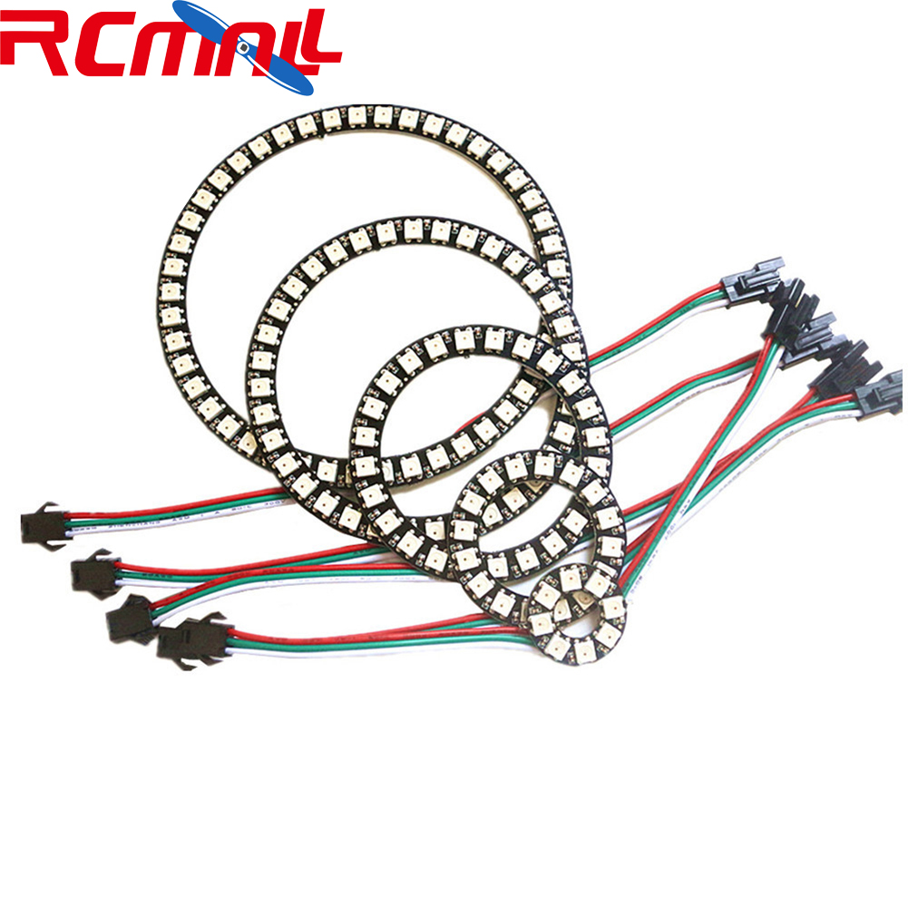 8/16/24/35/45/128bits WS2812B 5050 Pixel LED Circle Ring Addressable RGB LED Modules DC5V SK6812 WS2812 RCmall