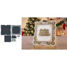 Square Flower Frame Love Christmas Words Metal Cutting Dies Scrapbooking Album Paper DIY Cards Crafts Embossing New 2019