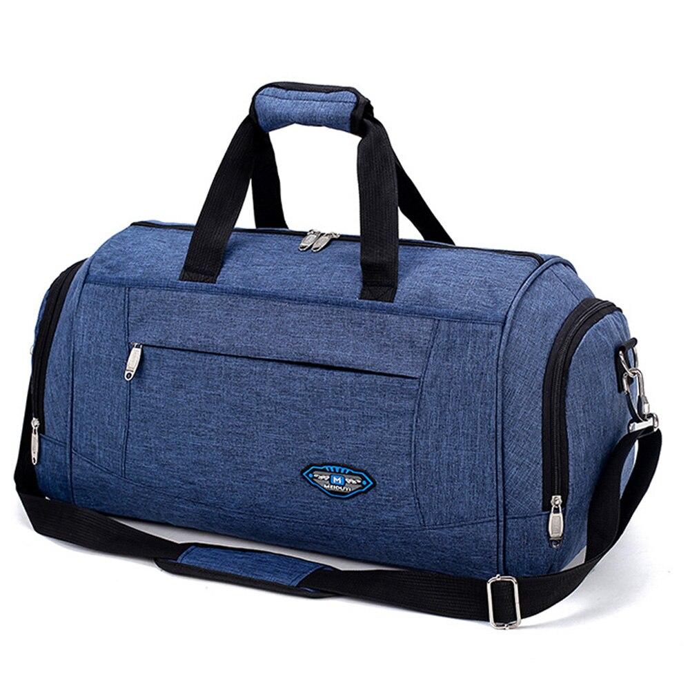 Arm Green Waterproof Nylon Travel Handbag Men Crossbody Weekend Bags Red Vintage casual Duffel Shoulder Bags Large Overnight Bag