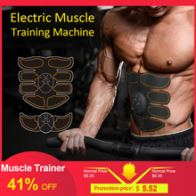 Body Building Fitness Muscle Stimulator Abdominal Exerciser Device Trainer Slimming Fat Burning