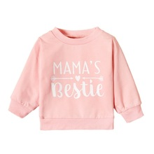 Autumn Kids Baby Girl Outerwear Baby Sweatshirt Jackets Kids Girl Letters Print Casual Long Sleeve Sweatshirt Children Coat New cheap without CN(Origin) Cotton Polyester Fits true to size take your normal size Regular Girls Hoodies Full
