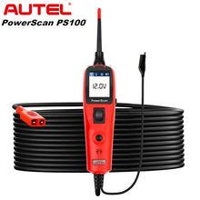 Autel PowerScan PS100 elektrik sistemi teşhis aracı OBD2 tarayıcı otomotiv devre test aleti