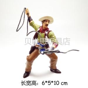 Rysunek lalki pvc Model dekoracji kowboj