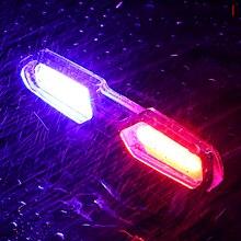 Luz trasera de bicicleta recargable por USB, luz de advertencia para bicicleta de montaña o carretera
