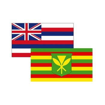 Hawaiian Flag Stickers Logo