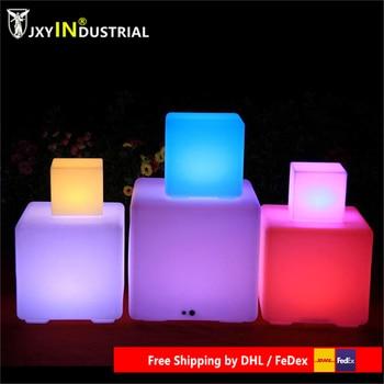 L40*W40cm Led Illuminated Lighting Bar Stool Cube Chair with 24 keys remote control