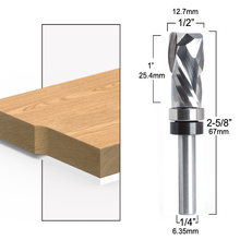 Bearing Ultra-Perfomance Compression Flush Trim Solid Carbide CNC Router Bit for woodworking end mill 1/4