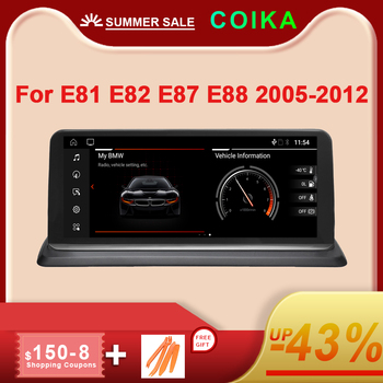 COIKA Android 10 System Car Multimedia Player For BMW E81 E82 E87 E88 WIFI 2+32GB RAM SWC BT IPS Touch Screen GPS Navi Stereo