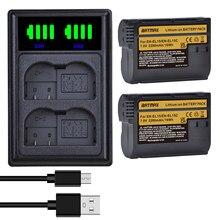 2280mAh EN-EL15C EL15C EN EL15 Batterie + CHARGEUR LED Pour Nikon D500, D610, D750, D800, D810, D850, D7000, D7100, D7500, Z5, Z6,