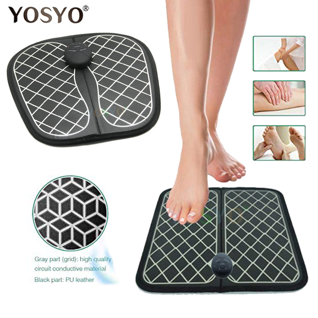 EMS Muscle Stimulator Trainer Electric Wireless Foot Buttocks Hip Abdominal ABS Fitness Slimming Feet Massager Gel Pad 1