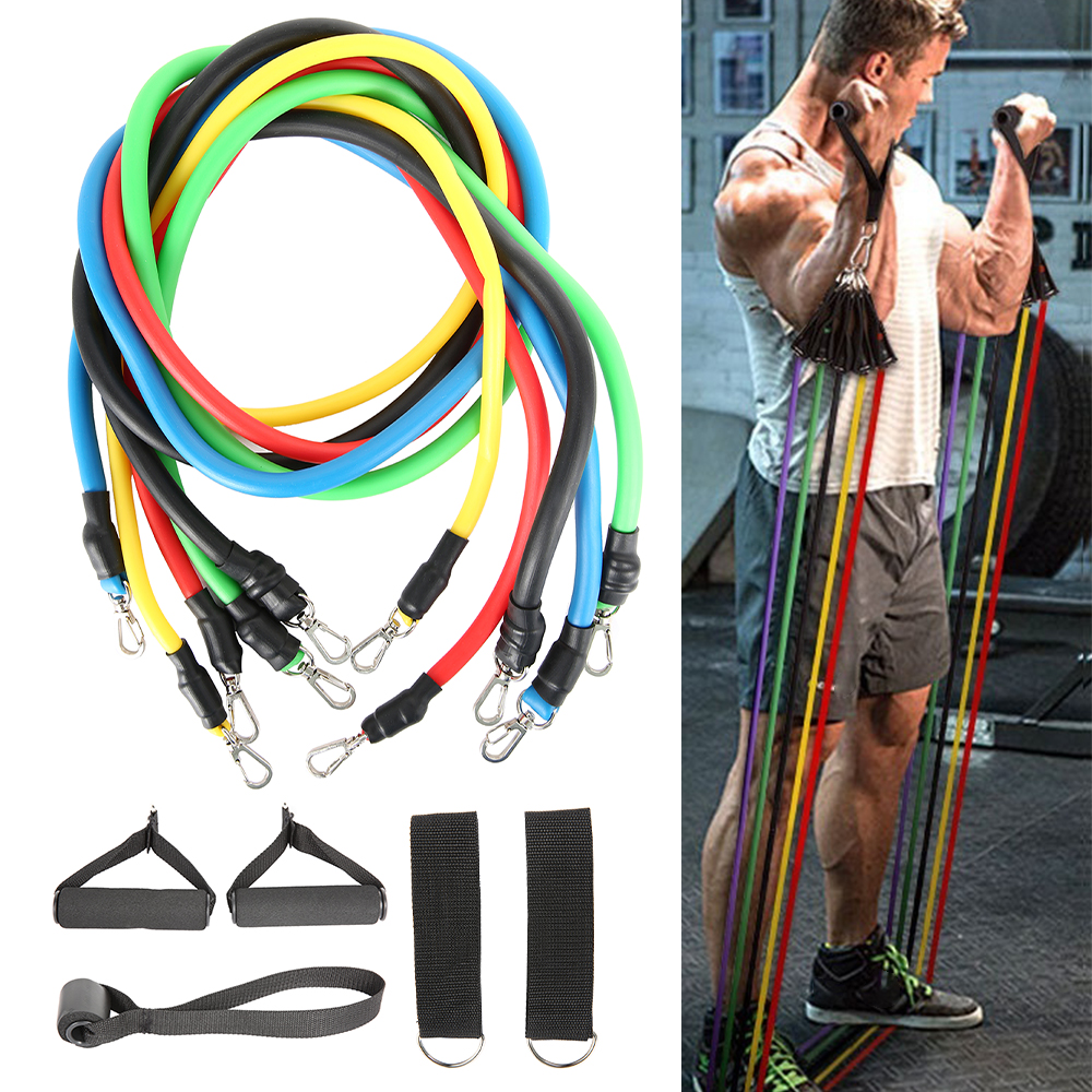 11-13pcs Fitness Resistance Bands 7