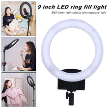 LED Selfie Ring Light Gimmable Photography Lamp Camera Light For Photo Studio Youtebe Video Live Make Up With Tripod Fill Light