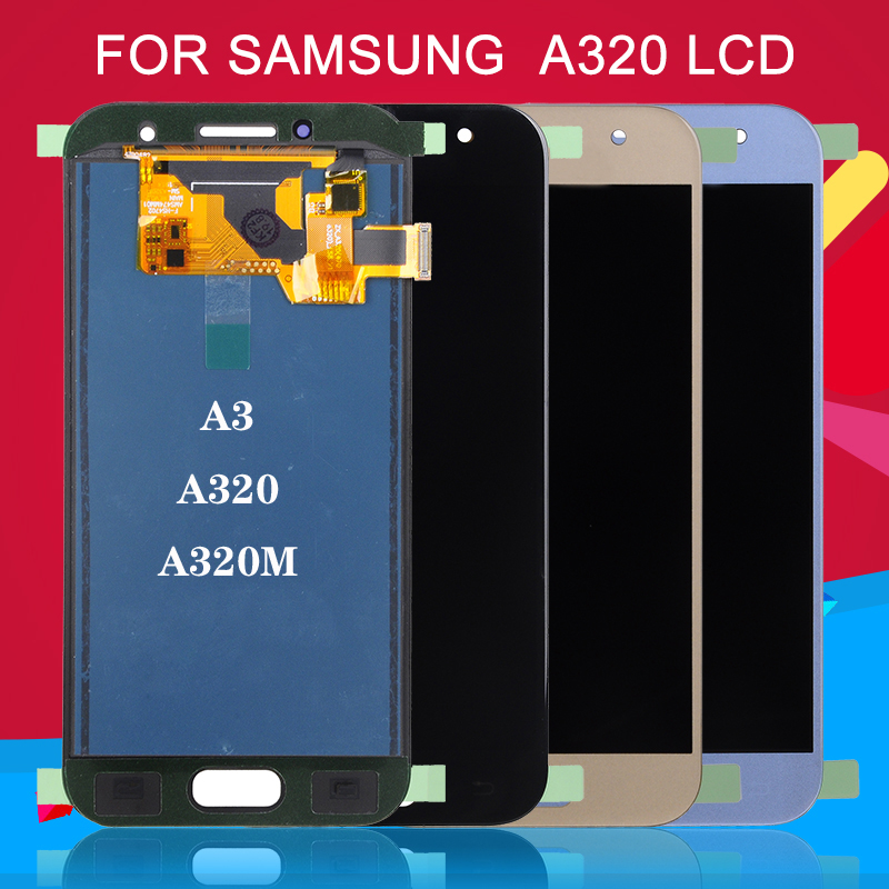Dinamico Promotion a320m <font><b>a320</b></font> <font><b>lcd</b></font> For Samsung Galaxy A3 2017 <font><b>LCD</b></font> With Touch Screen Digitizer Assembly Free Shipping image