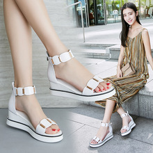 CINESSD Genuine Leather Chaussure Femme Gladiator Sandals Wo