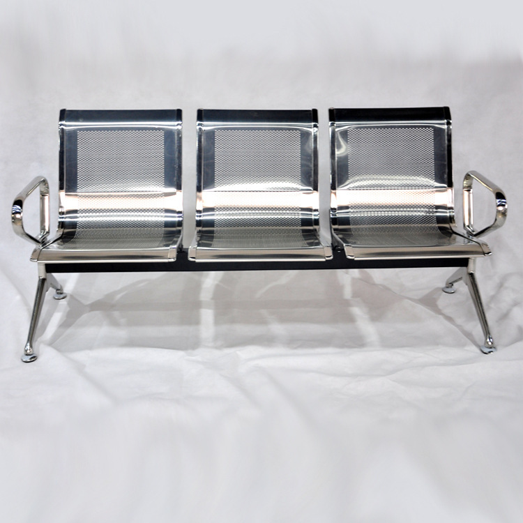 Steel Stacked Chairs Stainless Steel Airport Chair Conference Room Wait Chair Station Waiting Chair Hospital Waiting Chair