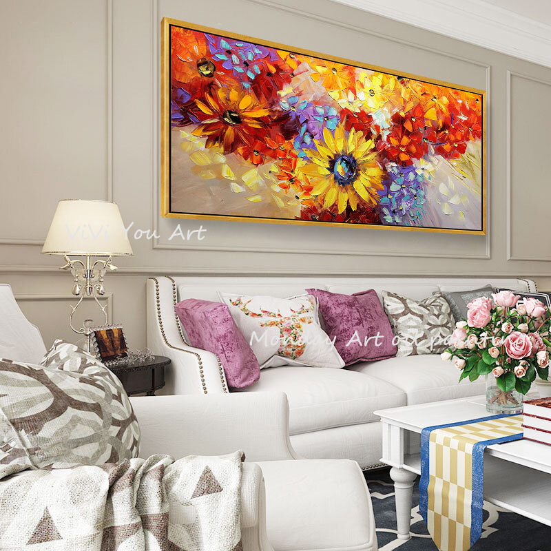 100-Hand-Painted-Abstract-Sunflowers-Oil-Painting-On-Canvas-Wall-Art-Wall-Adornment-Pictures-Painting-For (4)