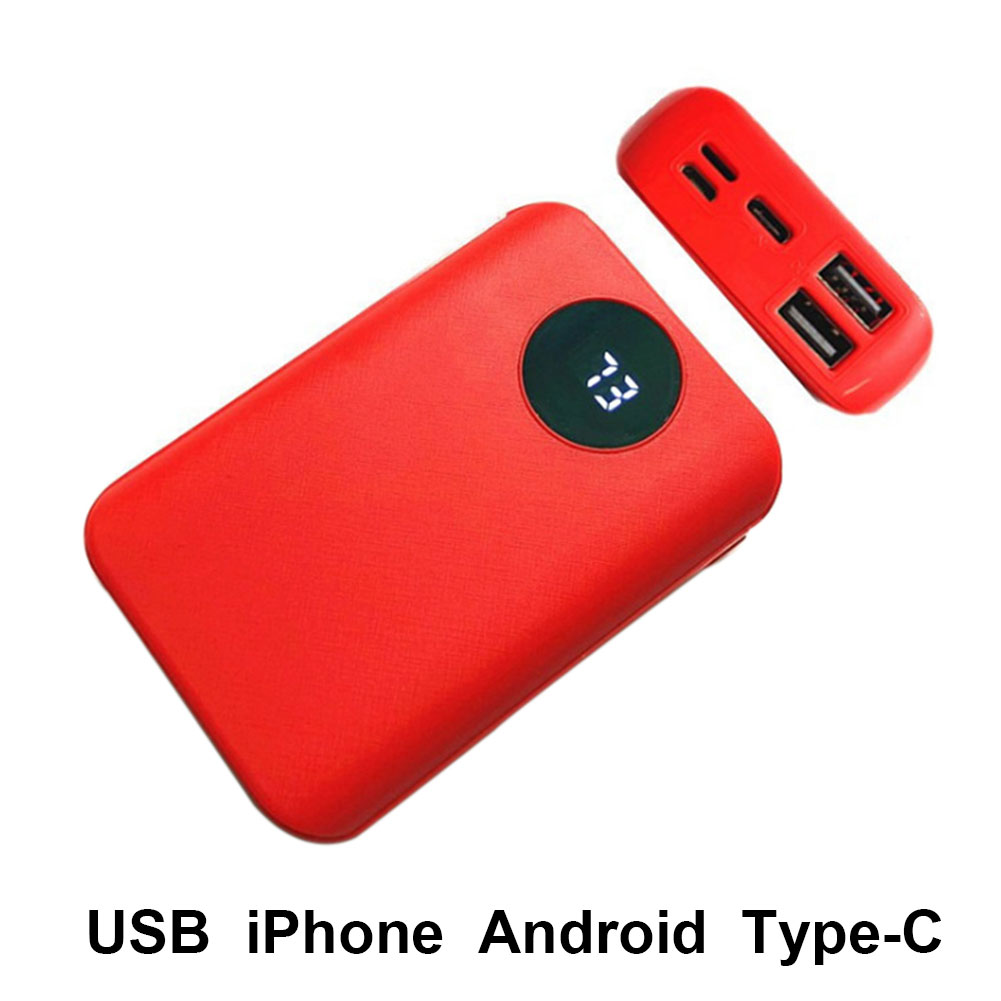 3 Batteries Portable Practical Dual USB Led Charger Box Digital Accessory No Welding Shell Type C Power Bank Case Mobile Phone